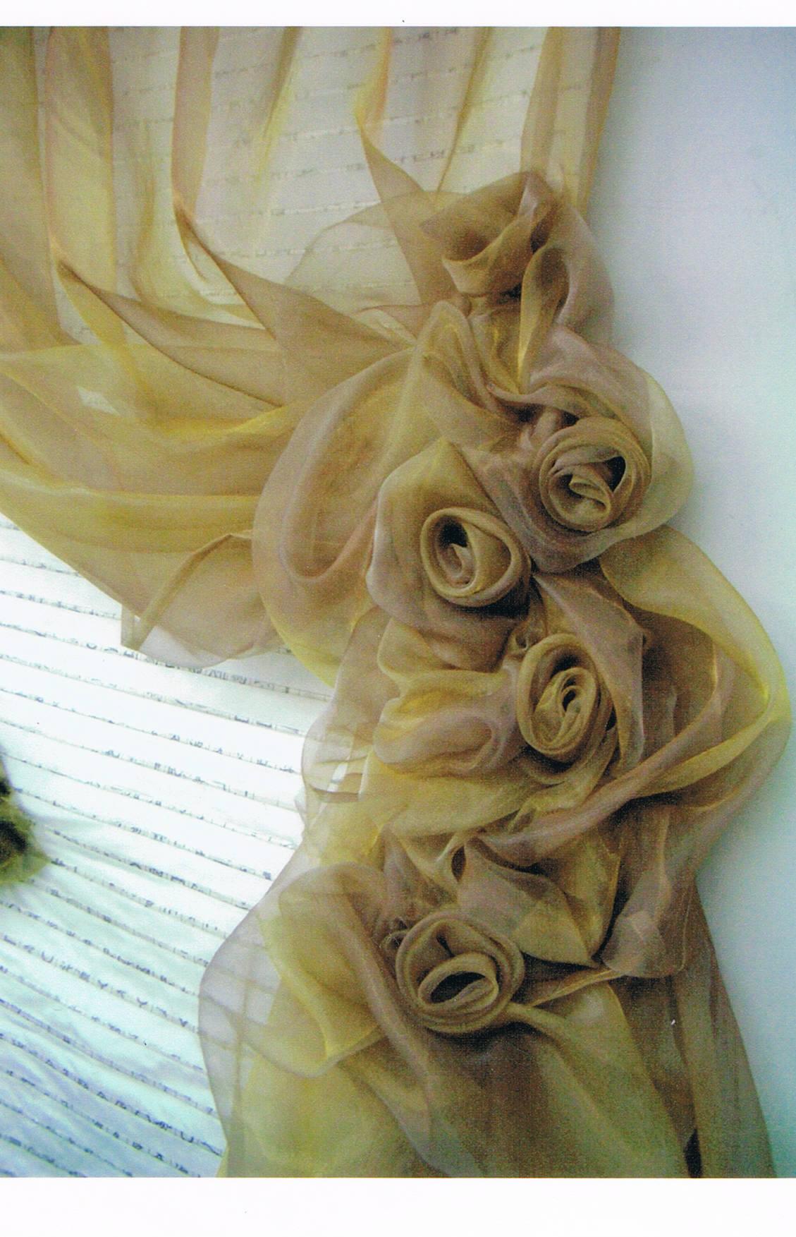 Органза для штор фото : ламбрекен, как сшить тюль своими руками, цветы 55